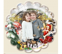 Магнит с Любима Снимка и Дизайн Зимна Приказка